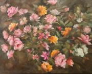 Nicky Botha: Roses with wild flowers