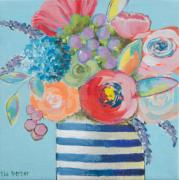 Tia Gerber: Pot with dark blue line of Flower