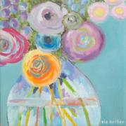 Tia Gerber: Flowers in glass pot